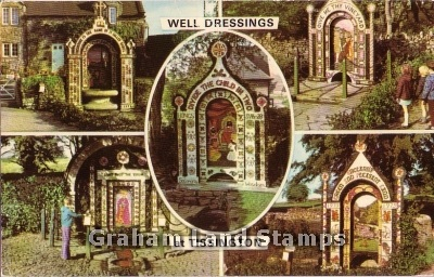 Postcard - Well Dressings at Tissington
