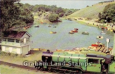 Postcard - Children's Boating and Open Air Theatre, Scarborough