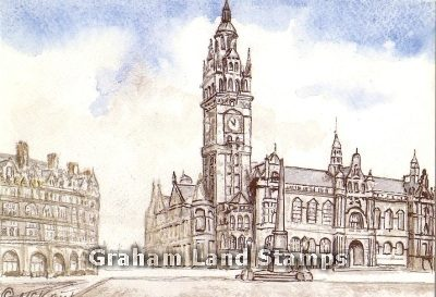 Postcard - Sheffield Town Hall, c.1900