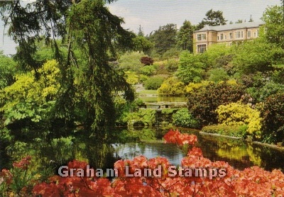 Postcard - Hodnet Hall from the Main Pool