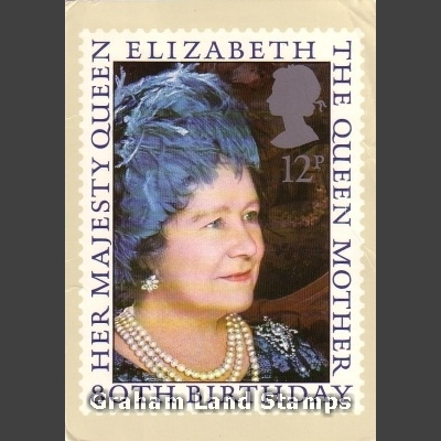 Postcard - Royal Mail PHQ 45 1980 Queen Mother's 80th Birthday (1v)