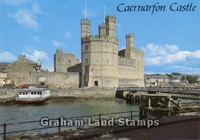 Postcard - Caernarfon Castle and Aber Bridge