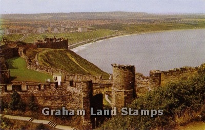 Postcard - Castle Walls and North Bay, Scarborough