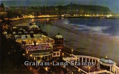 Postcard - The Spa and South Bay by Night, Scarborough