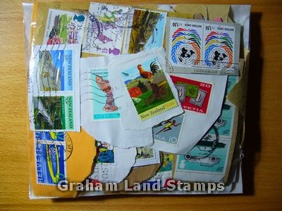 100g On-paper World Mix of Stamps - Lot 7