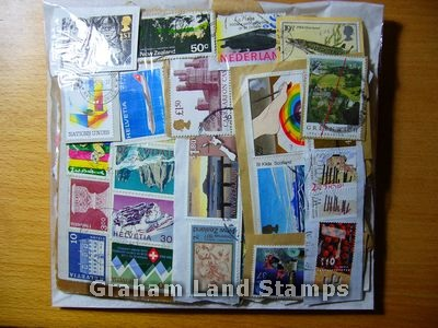 100g On-paper World Mix of Stamps - Lot 1