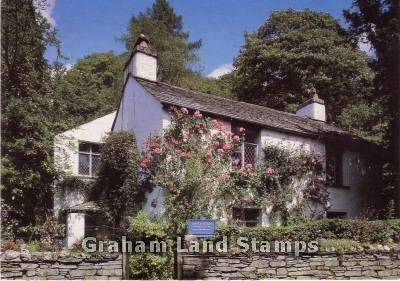 Postcard - Wordsworth's Dove Cottage, Grasmere, Lake District