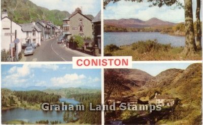 Postcard - Coniston Lake District Multiview