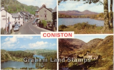 Postcard - Coniston Lake District Multiview