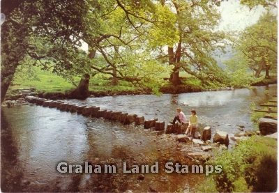 Postcard - Stepping Stones, River Rothay, Westmorland