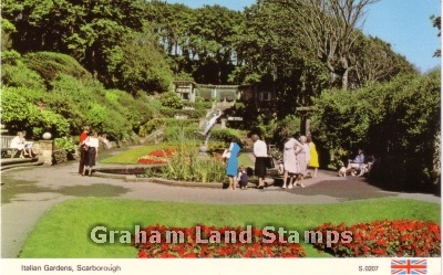 Postcard - Italian Gardens, Scarborough