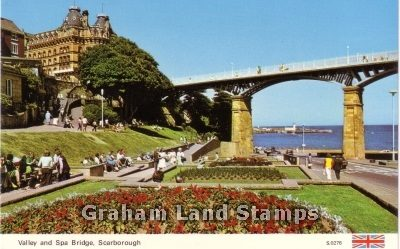 Postcard - Valley and Spa Bridge, Scarborough