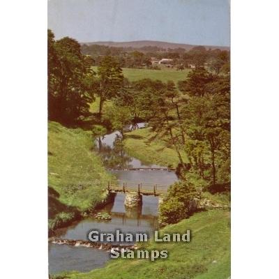 Postcard - The River Dove at Wolfscote Dale