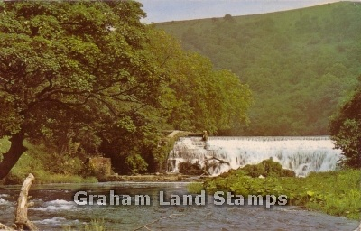 Postcard - The River Wye at Monsal Dale, near Bakewell