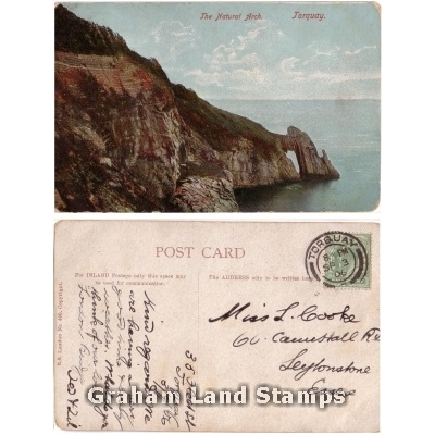 Postcard - The Natural Arch, Torquay