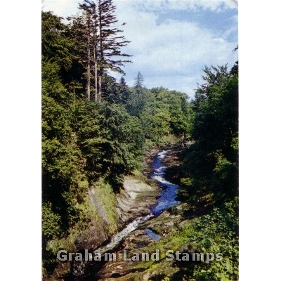 Postcard - North Esk from Gannochy Bridge, Edzell, Angus
