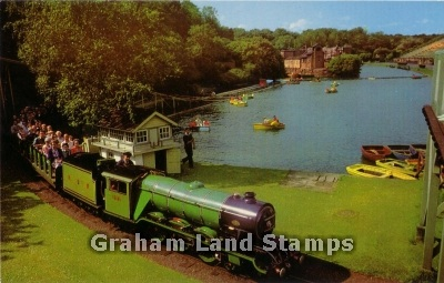 Postcard - Miniature Railway and Boating Pool, Scarborough