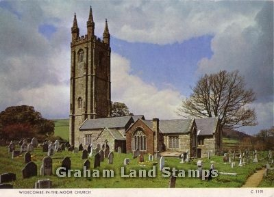 Postcard - Widecombe-in-the-Moor Church, Devon