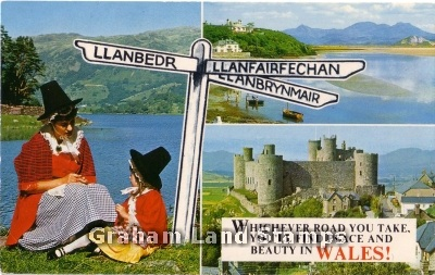 Postcard - Wales Multiview