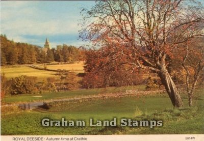 Postcard - Autumn Time at Crathie, Royal Deeside