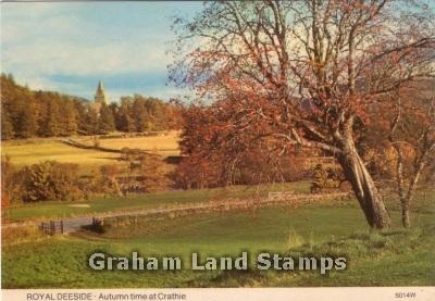 Postcard - Autumn Time at Crathie, Royal Deeside