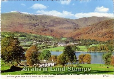 Postcard - Coniston from near Brantwood, in the Lake District