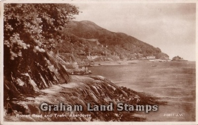 Postcard - Roman Road & Trefri, Aberdovey - Real Photo