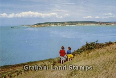 Postcard - Brean Looking Towards Weston-super-Mare