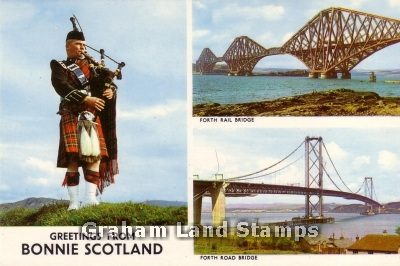 Postcard - Greetings from Bonnie Scotland Multiview
