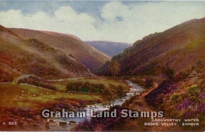 Postcard - Badgworthy Water, Doone Valley, Exmoor