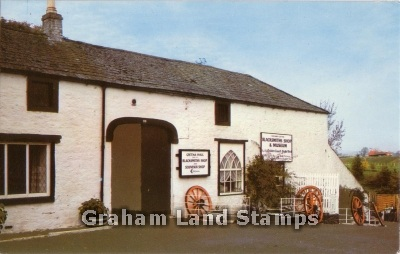 Postcard - Blacksmith's Shop and Museum, Gretna Hall