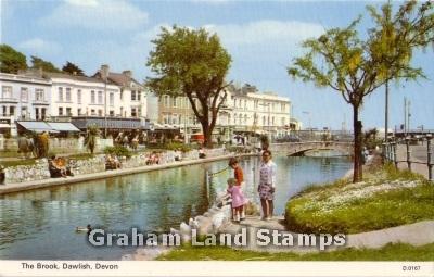 Postcard - The Brook, Dawlish