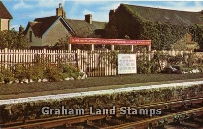 Postcard - Railway Station, Llanfairpwllgwyngyll, Anglesey