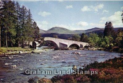 Postcard - Old Bridge of Dee, Invercauld, Aberdeenshire