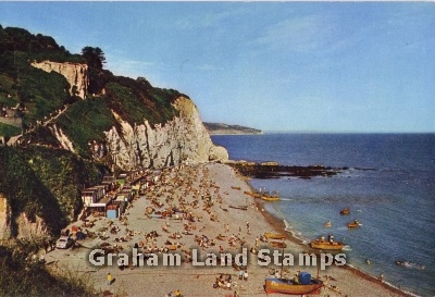 Postcard - Beer Head and Beach, Looking East