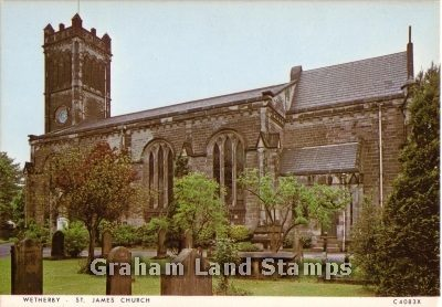 Postcard - St James' Church, Wetherby