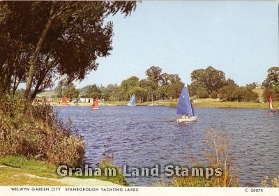 Postcard - Stanborough Yachting Lakes, Welwyn Garden City