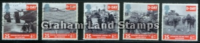 Great Britain 1994 SG 1824-8 D-Day Anniversary Used Set