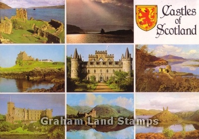 Postcard - Castles of Scotland Multiview