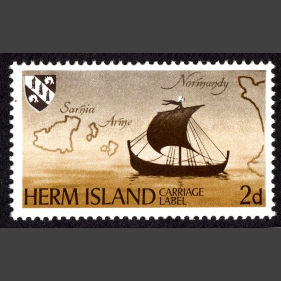 Herm Island 1969 Ship Definitive (2d - single value)
