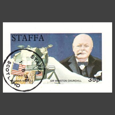 Staffa 1972 Churchill / Lunar Module Sheetlet (35p, CTO)