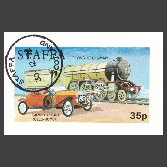 Staffa 1972 Flying Scotsman / Rolls Royce Sheetlet (35p, CTO)