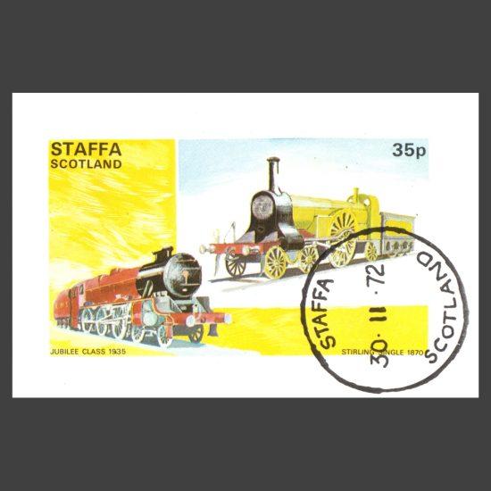 Staffa 1972 Trains Sheetlet (35p)