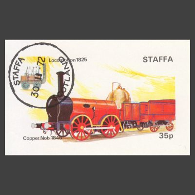 Staffa 1972 Locomotion / Copper Nob Sheetlet (35p, CTO)