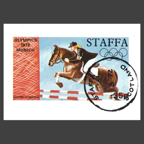 Staffa 1972 Showjumping / Olympics Sheetlet (35p, CTO)