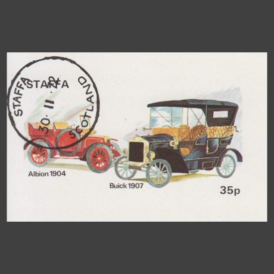 Staffa 1972 Albion / Buick Cars Sheetlet (35p, CTO)