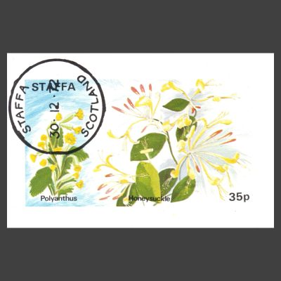 Staffa 1972 Polyanthus / Honeysuckle Sheetlet (35p, CTO)