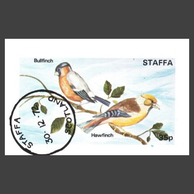 Staffa 1972 Finches Sheetlet (35p, CTO)