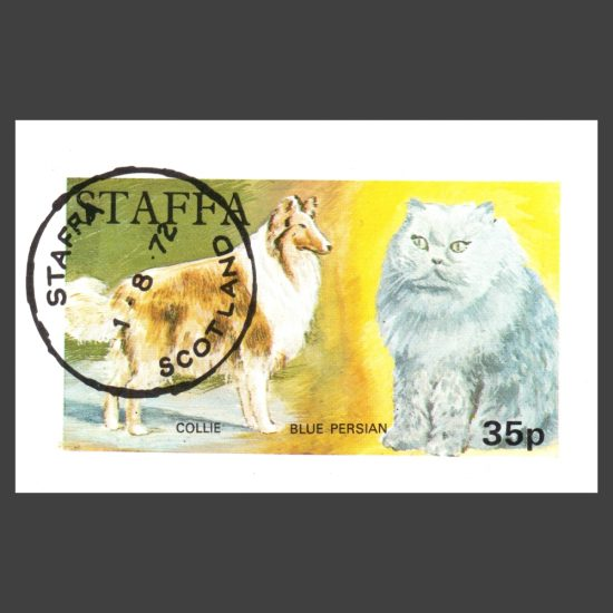 Staffa 1972 Dog / Cat Sheetlet (35p, CTO)