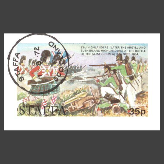 Staffa 1972 93rd Highlanders Sheetlet (35p, CTO)
